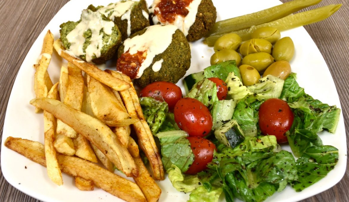 Platters: All platters include rice, salad, and pita